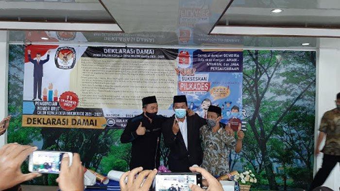 Deklarasi Damai Pilkades Desa Bojonggede, Kecamatan Bojonggede, Kabupaten Bogor.