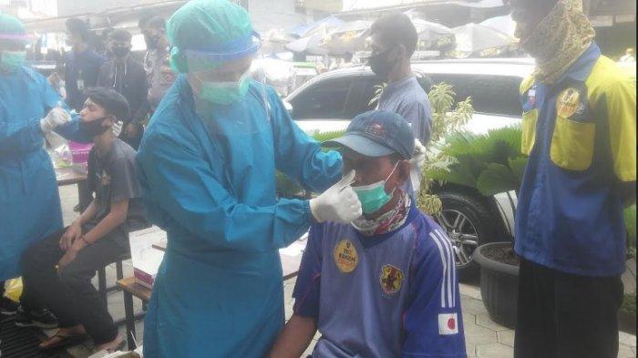 PKL di Pasar Kebon Kembang Bogor Dites Antigen