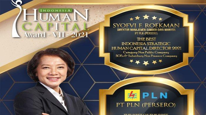 Tata Kelola SDM Terbaik, PLN Raih Penghargaan 1st The Best of The Best-Human Capital 2021