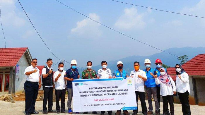 Bantu Warga Terdampak Bencana di Kabupaten Bogor, PLN Bangun Jaringan Listrik ke Tempat Relokasi