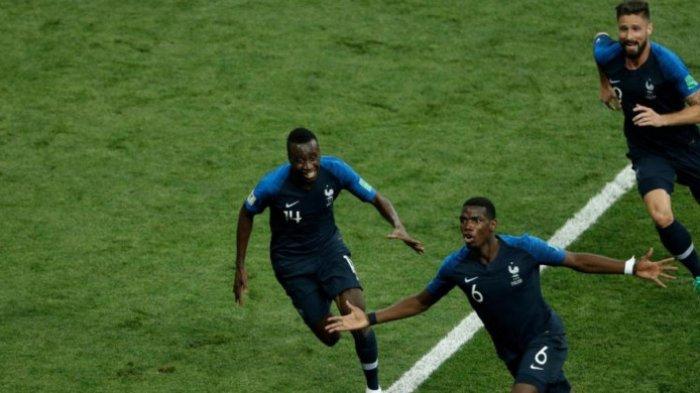 Paul Pogba Cetak Gol Bersejarah di Final Piala Dunia 2018