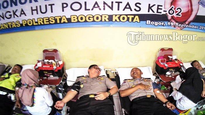 HUT Polantas Ke-62, Polisi di Kota Bogor Disedot Darahnya