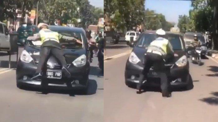 Tabrak Polisi dan Nyangkut di Kap Mesin, Ini Sanksi yang Diberikan Pada Pengemudi Mobil Hitam