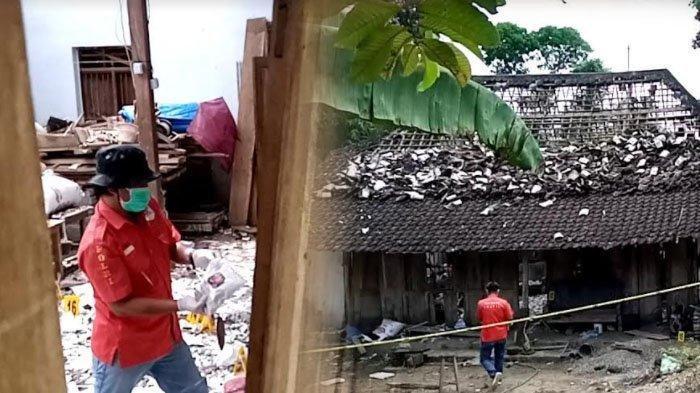 Polisi melakukan olah TKP ledakan mercon di rumah Abdul Rahman, di Dusun Bangunsari, Desa Sukorejo Wetan, Kecamatan Rejotangan. Lokasi ini terkuak setelah polisi mendengar tangisan warga.