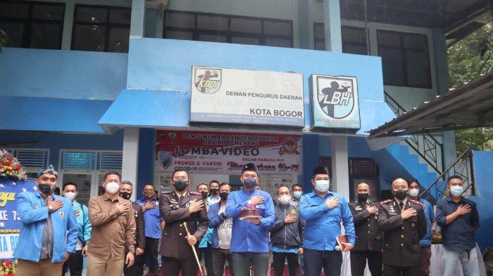 HUT Bhayangkara ke-75, DPD KNPI dan Polresta Bogor Kota Umumkan Pemenang Video Prokes