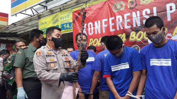 Pelaku Tawuran dan Premanisme di Kota Bogor Ditangkap, Bom Molotov hingga Kawat Berduri Jadi Bukti