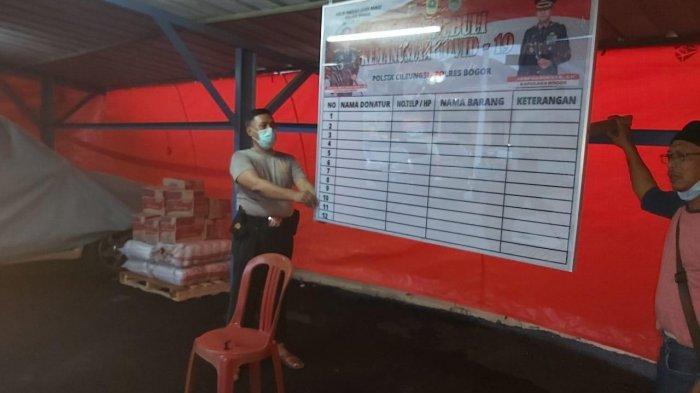 Bantu Warga Terdampak Corona, Polsek Cileungsi Bangun Posko Peduli Kemanusiaan Covid-19