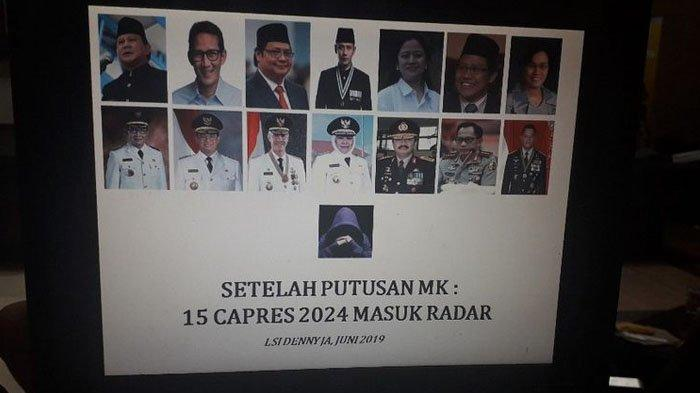 LSI Denny JA Sebut Ada 15 Nama Berpotensi Jadi Capres 2024, Dari Prabowo hingga AHY