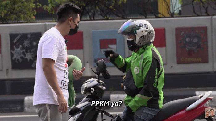 Sidak ke Jalan, Baim Wong Ngakak Dengar Jawaban Warga Jakarta soal PPKM, Suami Paula Bagi-bagi Uang