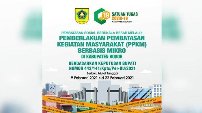 PPKM Berbasis Mikro Kabupaten Bogor Mulai Berlaku, Ini Daftar Ketentuan-Ketentuannya