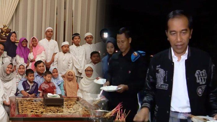 Perbandingan Perayaan Tahun Baru Capres, Prabowo Undang Anak Yatim dan Jokowi Traktir Pegawai Istana