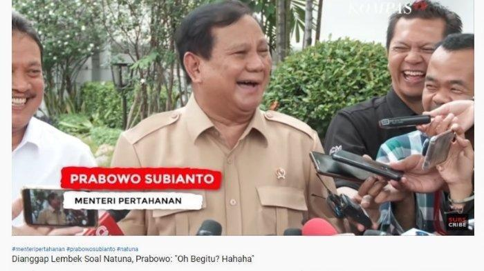 Dianggap Lembek soal Natuna Oleh PA 212, Prabowo : Silakan Saja Bicara