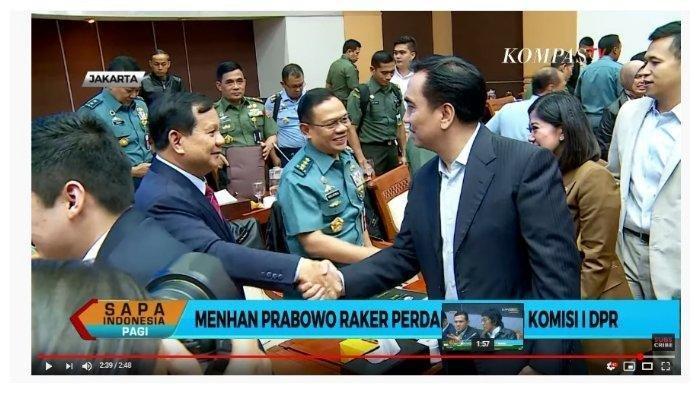 Momen Salaman Prabowo Setelah Didebat Effendi Simbolon Soal Anggaran : Sekarang Kau Berani Ya