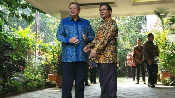 SBY Tidak Hadir dalam Pertemuan Ketua Umum Parpol Koalisi Prabowo-Sandiga Uno
