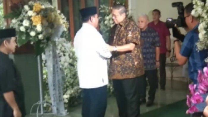 Pernyataan Prabowo saat Melayat ke Cikeas, Demokrat: SBY Masih Menangis Saat Ceritakan Ibu Ani