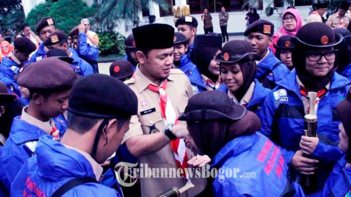 Keren, Kontingan Pramuka Kota Bogor Tampilkan Atraksi Wayang Hihid di Jambore Nasional