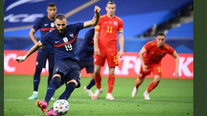 EURO 2020 : Prancis Menang Uji Coba Lawan Timnas Wales, Bale Tak Berkutik, Benzema Gagal Penalti