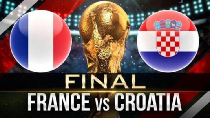 Jadwal Final Piala Dunia 2018, Prancis Vs Kroasia, Malam Ini Pukul 22.00 WIB