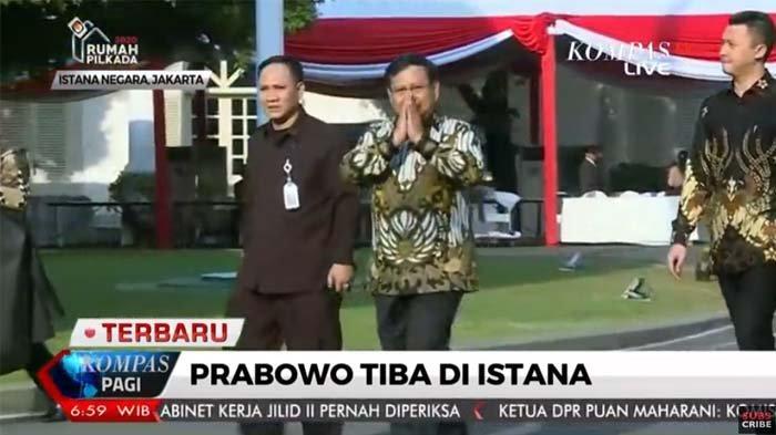 Detik-detik Jelang Pengumuman Menteri Kabinet Jokowi, Prabowo Sudah Hadir Sejak Pagi Hari