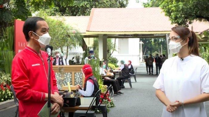Cerita Presiden Jokowi Usai Disuntik Vaksin Corona Tahap 2 di Istana Negara: Hanya Pegal-pegal