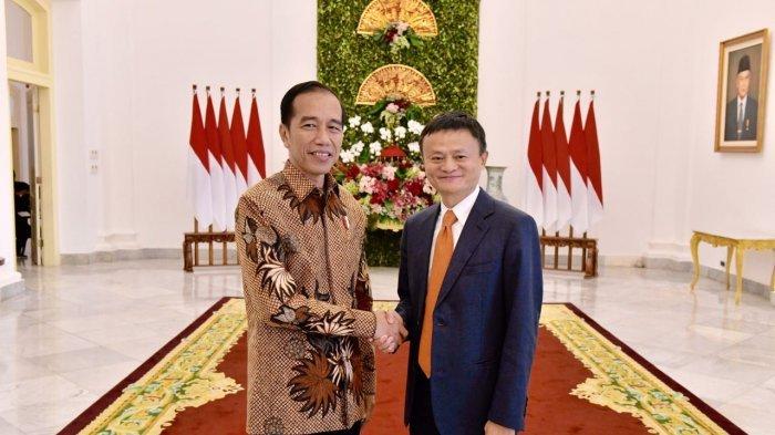 Presiden Joko Widodo hari ini, Sabtu (1/9/2018) melangsungkan pertemuannya dengan kelompok bisnis Alibaba Group bersama pendirinya, Jack Ma di Istana Kepresidenan Bogor, Jawa Barat (Agus Suparto/Fotografer Kepresidenan)