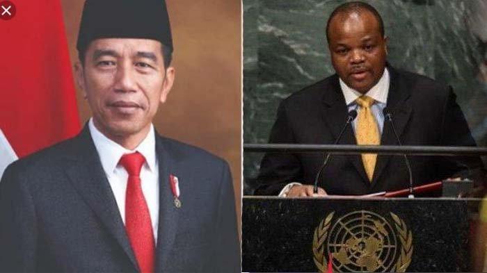 Datang di Pelantikan Jokowi, Ini Sosok Raja Mswati III Presiden yang Punya 15 Istri dan 23 Anak
