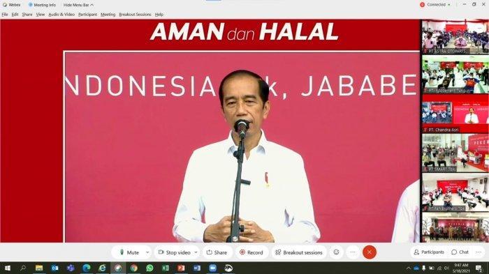 Disaksikan Presiden Jokowi, Ribuan Karyawan Indocement Disuntik Vaksin Gotong Royong