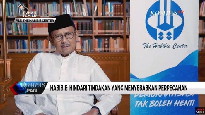 Jelang Pengumuman Hasil Pemilu 22 Mei, BJ Habibie : Hindari Tindakan yang Menyebabkan Perpecahan