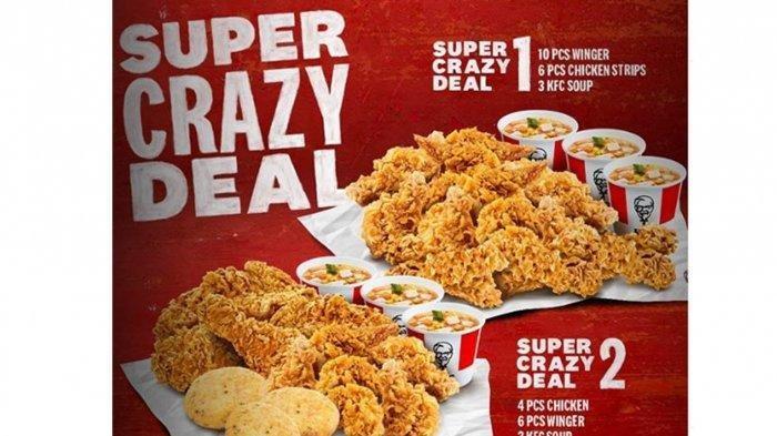 Promo KFC Super Crazy Deal 1 & 2, Harga Mulai Rp 109 Ribuan