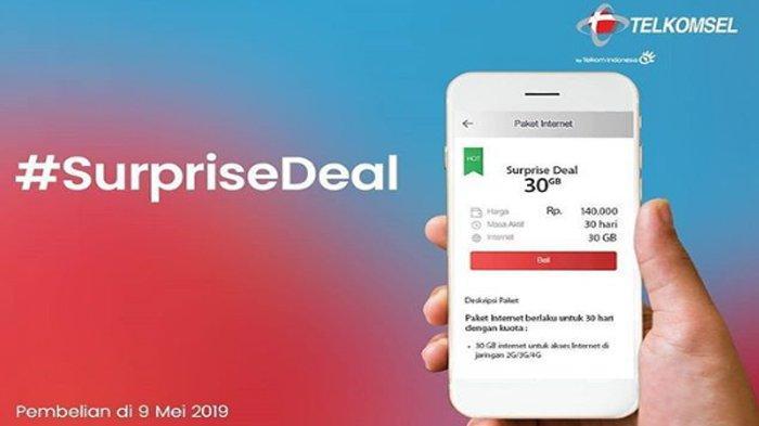 PROMO #SurpriseDeal Telkomsel Hari Ini, Kuota Internet hingga 140 GB, Harga mulai Rp 100.000