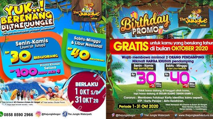 Promo The Jungle Waterpark Bulan Oktober 2020, Tiket Masuk Cuma Rp 30 Ribu Setiap Senin-Kamis