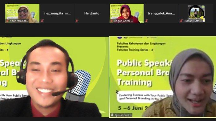 Bekali Mahasiswa Berani Bicara depan Orang Banyak, Fahutan IPB University Ajari Cara Public Speaking