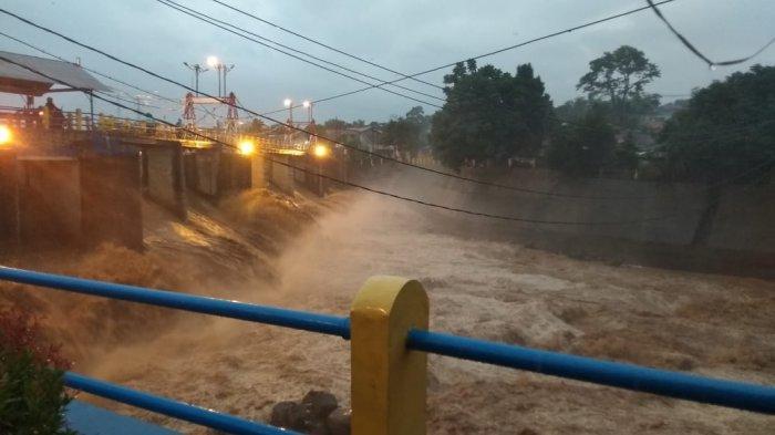 Hujan Deras di Wilayah Bogor Sore Ini, Bendung Katulampa Siaga 3