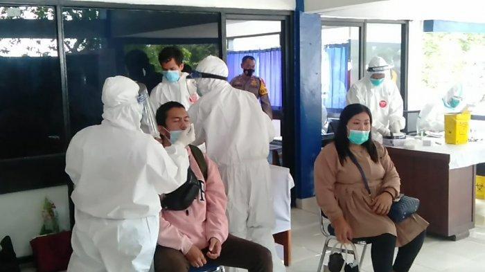 Puluhan Penumpang di Terminal Baranangsiang Jalani Rapid Tes Antigen