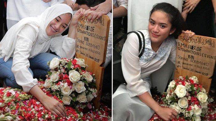 Pose Sambil Senyum Di Makam Ayahnya, Dua Putri Sys NS Ini Malah Dapat Komentar Nyinyir dari Netizen
