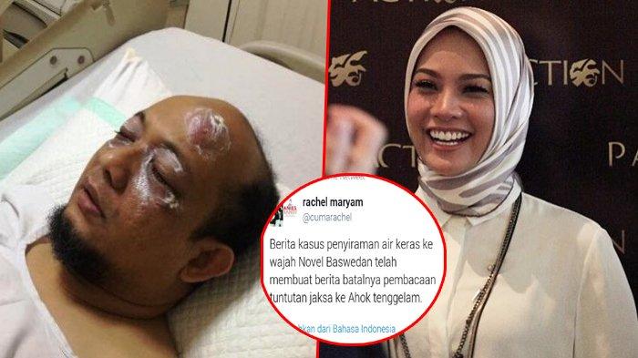 Rachel Maryam Diserang Netizen Gara-gara Komentar Ini Soal Penyiraman Novel Baswedan: Gak Punya Hati