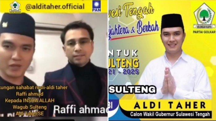 Video Raffi Ahmad Dukung Aldi Taher di Pilkada Sulteng 2020 Jadi Sorotan, Suaranya Tiba-tiba Berubah
