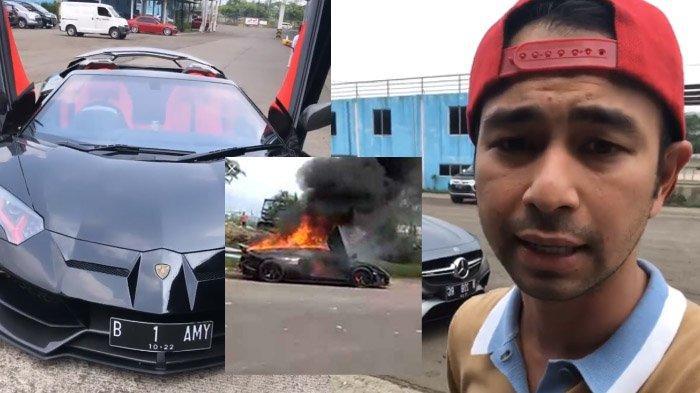 Lamborghini Aventador Hitam Merah Terbakar, Polisi Pastikan Raffi Ahmad Tidak Berada di Lokasi