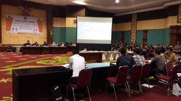Hasil Rapat Pleno KPU Kabupaten Bogor, Pasang Ade-Iwan Raup Suara Terbanyak