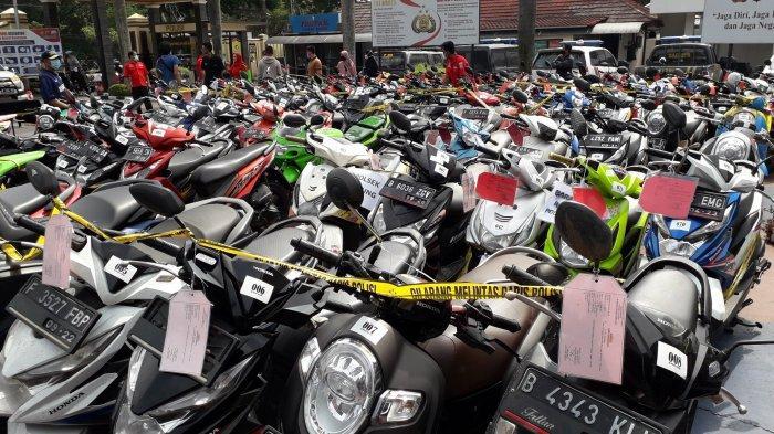 Ratusan Motor Curian Diamankan Polres Bogor, Yang Merasa Kehilangan Bisa Cek Langsung