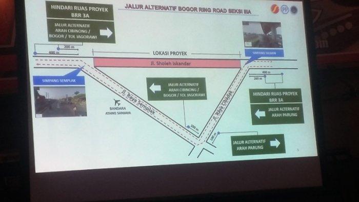 Rekayasa Lalin Selama Pemasangan Box Girder di Tol BORR, Pengendara Diimbau Cari Jalur Alternatif