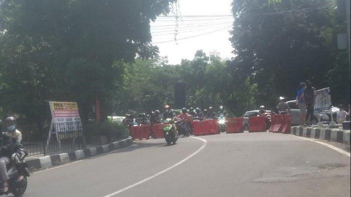 Terjadi Kepadatan, Polisi Lakukan Rekayasa Lalin Menuju Jalan Otista Kota Bogor