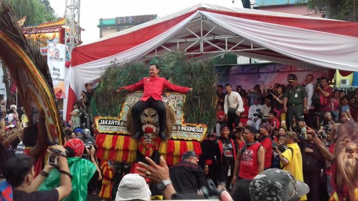 Wali Kota Bogor Naik Reog Ponorogo Diajak Berputar Saat CGM 2016