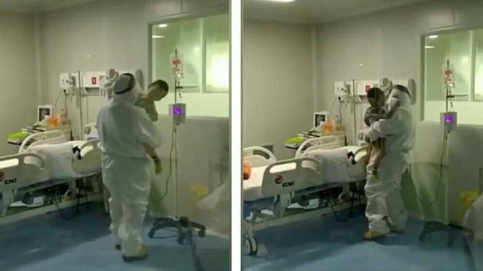 Rewel di Ruang Isolasi, Balita Suspect Covid-19 Ini Ditenangkan Petugas Medis, Videonya Bikin Mewek