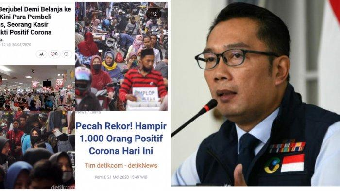 Hampir 1.000 Orang Positif Corona, Ridwan Kamil: Akibat Tak Disiplin Menahan Belanja Baju Baru