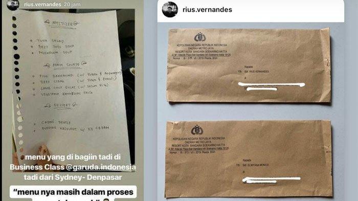 Buntut Foto Menu Kelas Bisnis Garuda Indonesia yang Viral, Pemilik Akun Dilaporkan ke Polisi