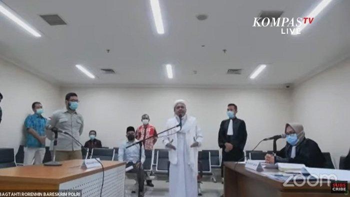 Habib Rizieq Tolak Sidang Virtual, Ketua KY: Hakim Berwenang Tentukan Persidangan