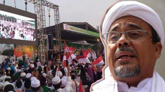 Rizieq Shihab Sambutan di Reuni 212, Bahas Soal Ahok : Ingat Si Penista Agama Lengser dan Longsor