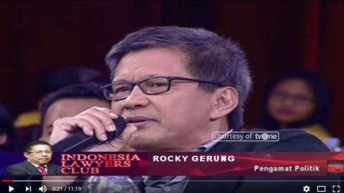 Rocky Gerung Tak Hadir di ILC Saat Bahas OTT KPK Romahurmuziy, Ini Jawaban Karni Ilyas