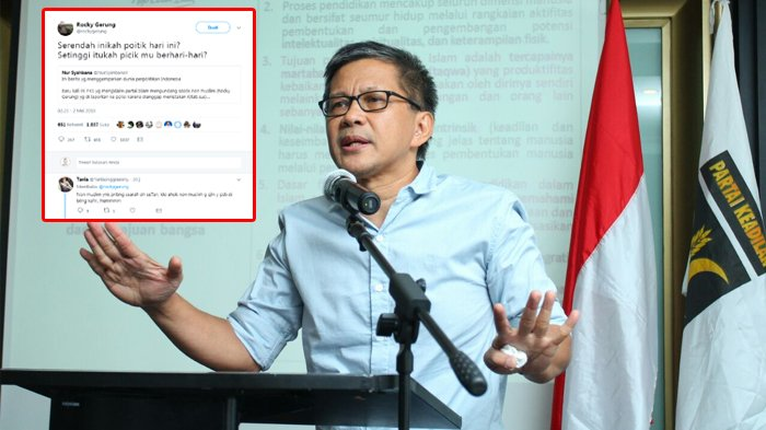 Dikecam Karena Jadi Narasumber di Seminar PKS, Rocky Gerung : Serendah Inikah Politik Hari Ini ?